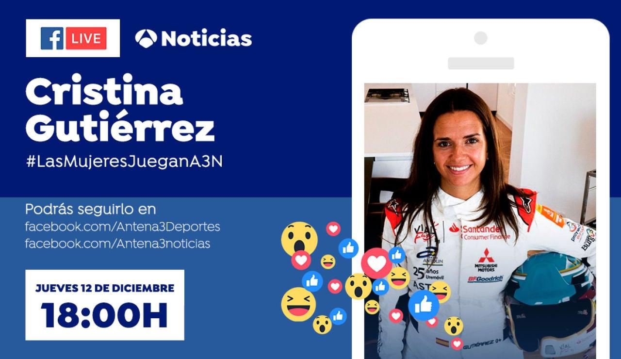 Cristina Gutiérrez, cuarta invitada al espacio #LasMujeresJueganA3N