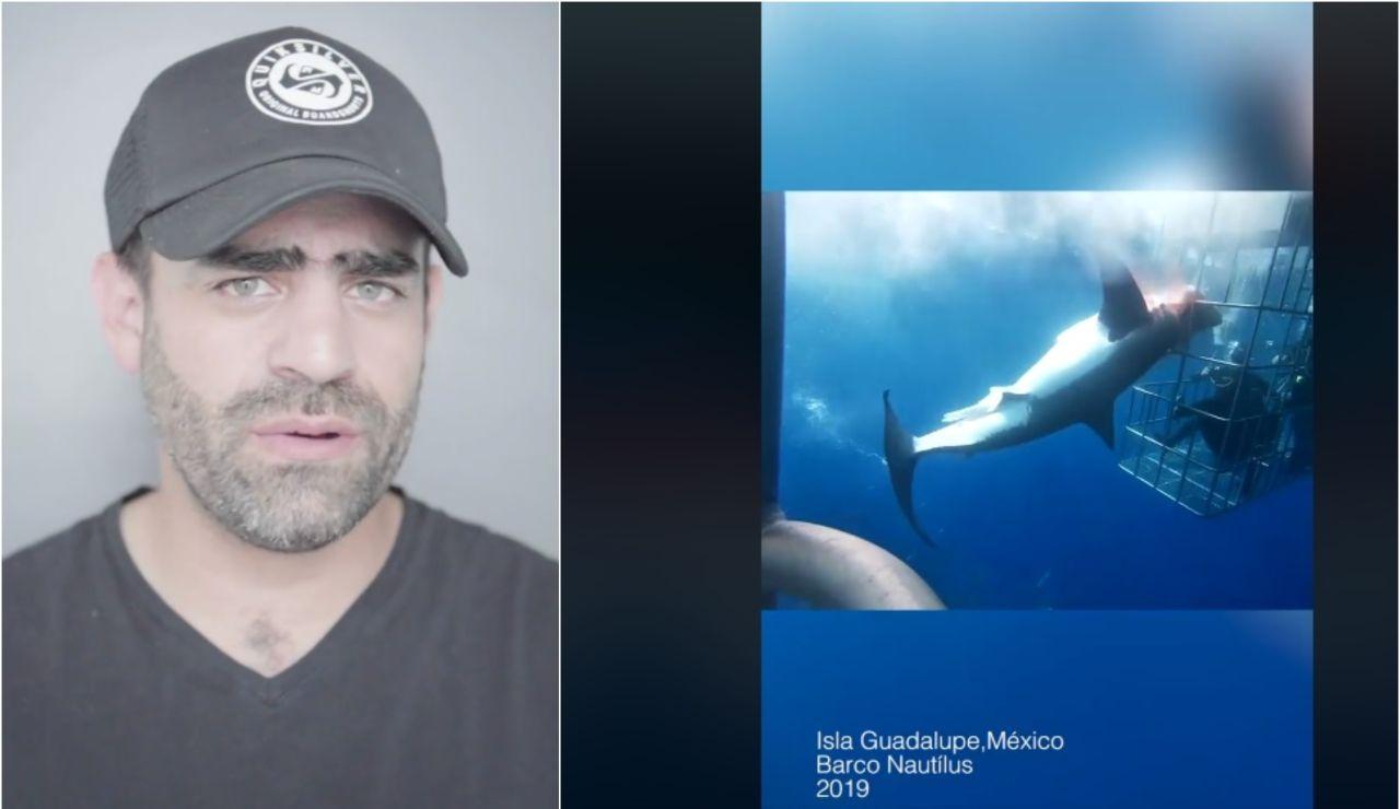 Arturo Isla y su denuncia sobre la muerte de un tiburón