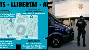 Los cuatro puntos fijados por Tsunami Democràtic para su protesta alrededor del Camp Nou