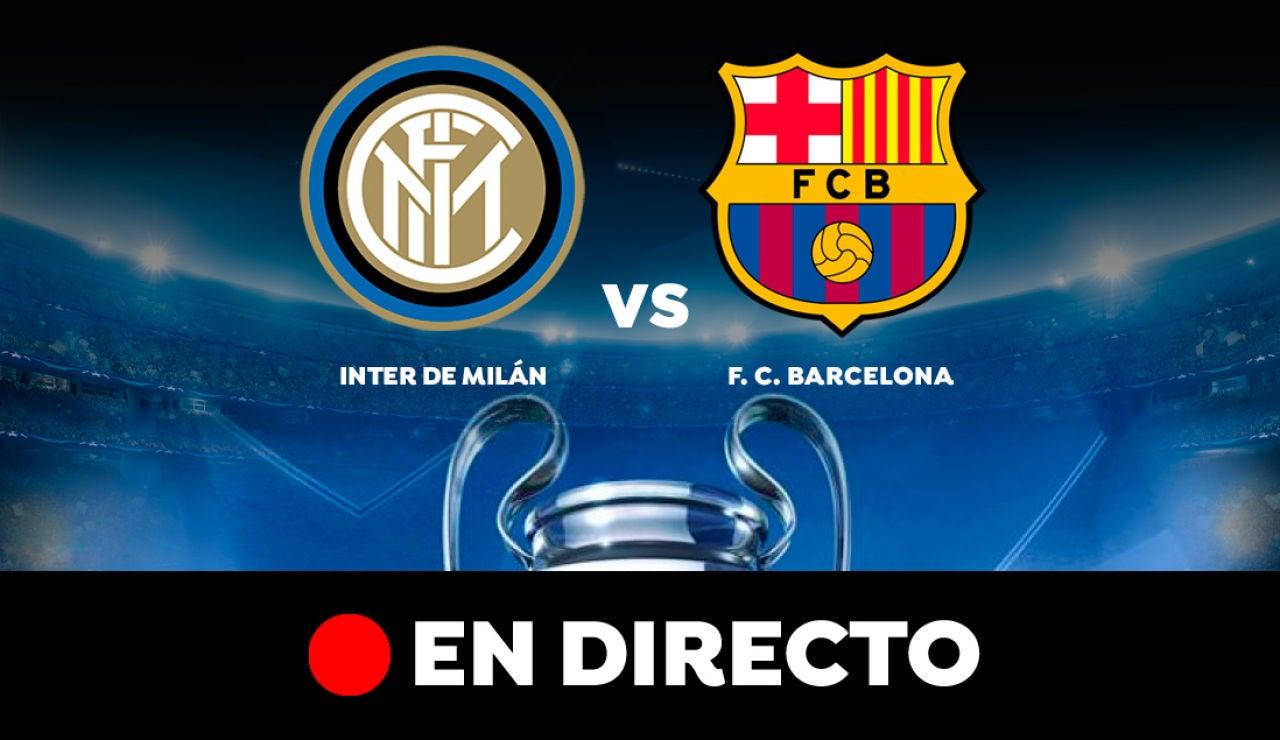 Inter de Milán - Barcelona: Resultado del partido de hoy de Champions League, en directo