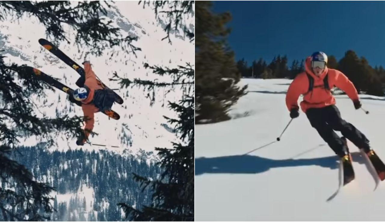 Richard Permin y su increíble descenso entre pinos