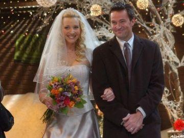 Phoebe y Chaendler en 'Friends'