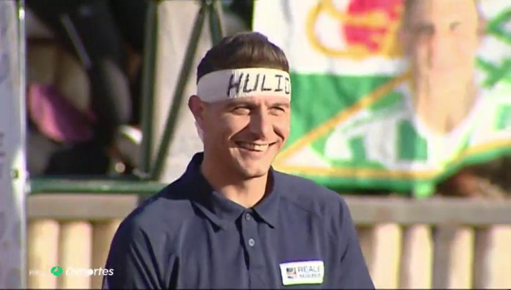 El show de Joaquín, del 'hat-trick' al tenis con Ferrero, Bartra y Ferrer