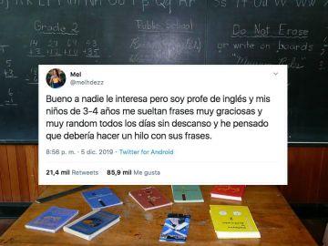 Una profesora recopila frases de sus alumnos