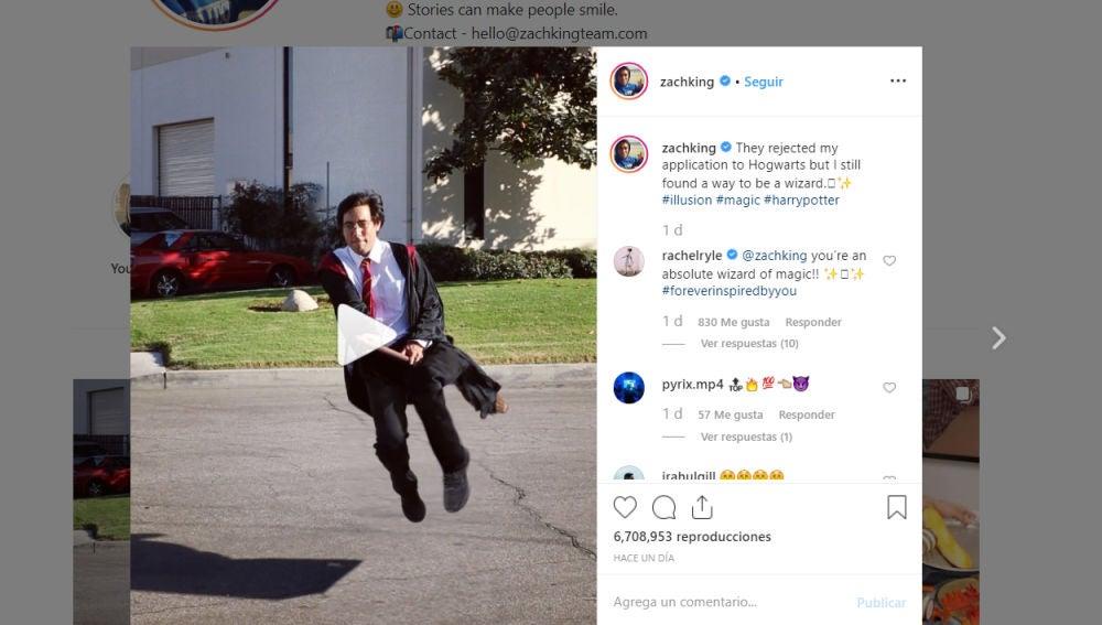 Zach King en Instagram
