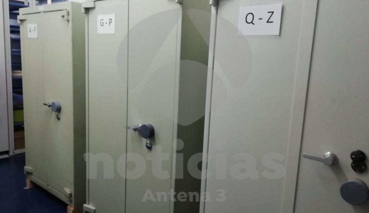 Las cajas fuertes que ocultaban expedientes del caso de los ERE