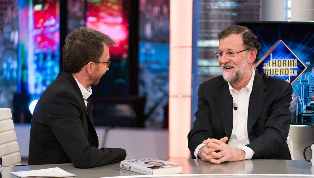 """Mariano Rajoy recuerda en 'El Hormiguero 3.0' su regreso a su puesto de registrador: """"Era una situación pintoresca"""""""