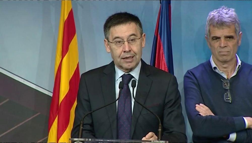 El presidente del Barcelona, Josep María Bartomeu