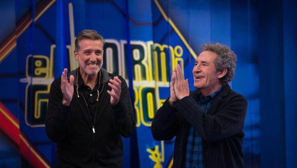 La espectacular entrada de Emilio Aragón y Miguel Ríos al ritmo del rock and roll en 'El Hormiguero 3.0'