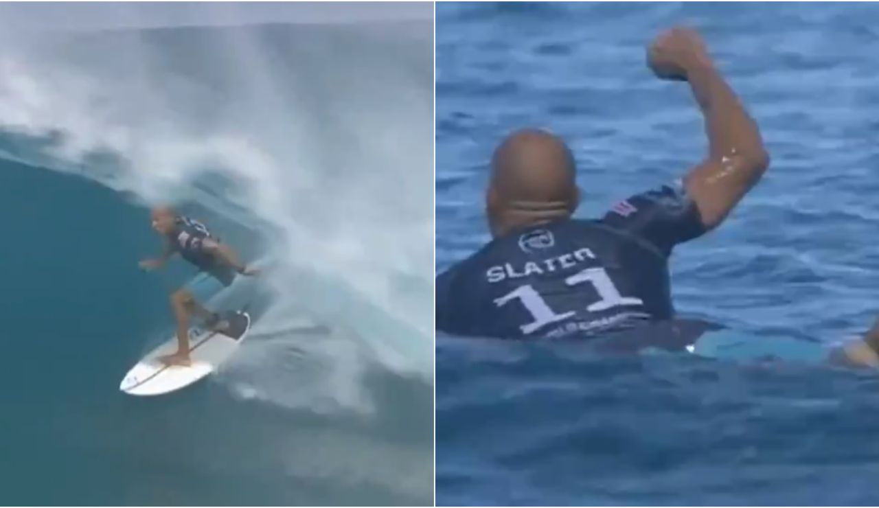 Kelly Slater y su ola perfecta en el Billabong Pipe Masters