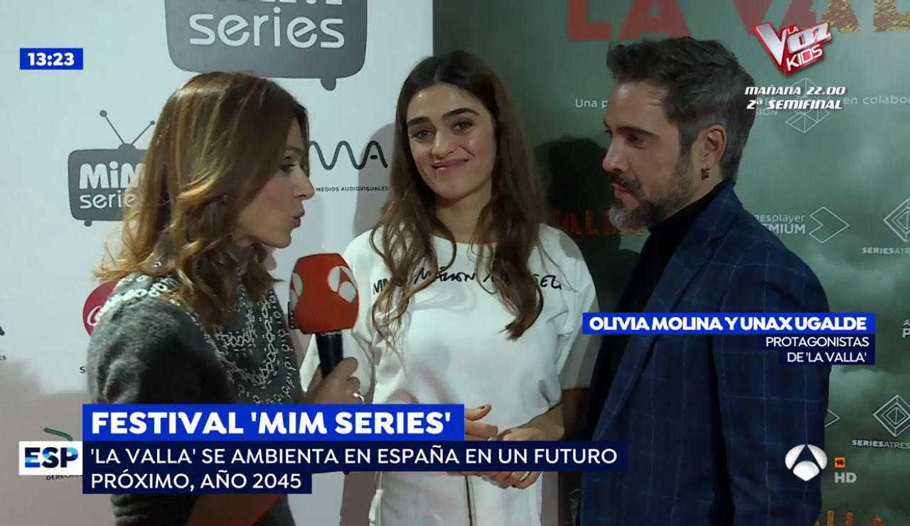 """Olivia Molina y Unax Ugalde en los 'MiM Series': """"La Valla plantea un nuevo mundo"""""""