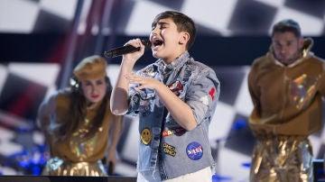 Marcos Díaz canta 'Chandelier' en la Semifinal de 'La Voz Kids'