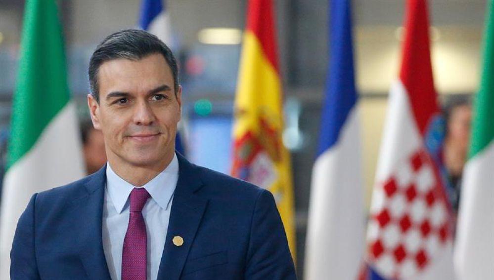 Pedro Sánchez en la Cumbre Europea.