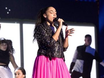 Aysha Bengoetxea canta 'Back to black' en la Semifinal de 'La Voz Kids'