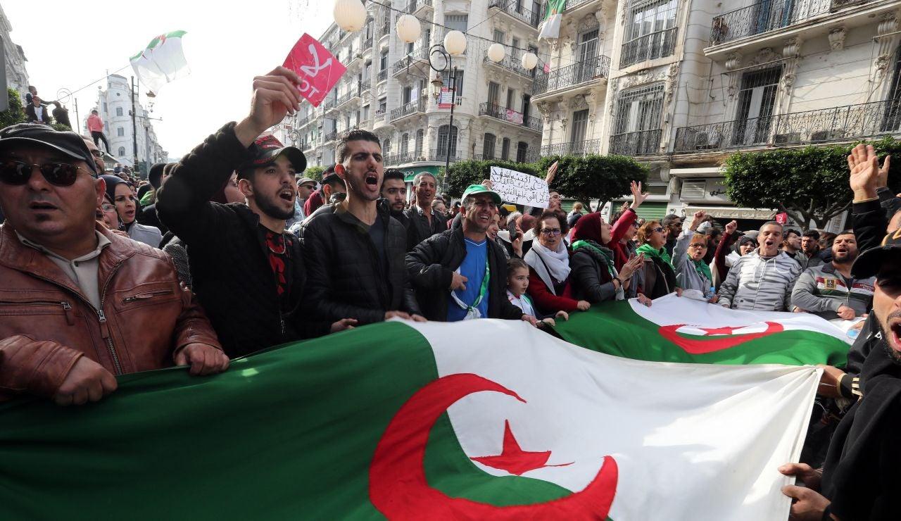 Manifestaciones en Argel.