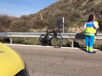 Imagen de archivo del lugar del atropello a un ciclista en Rivas