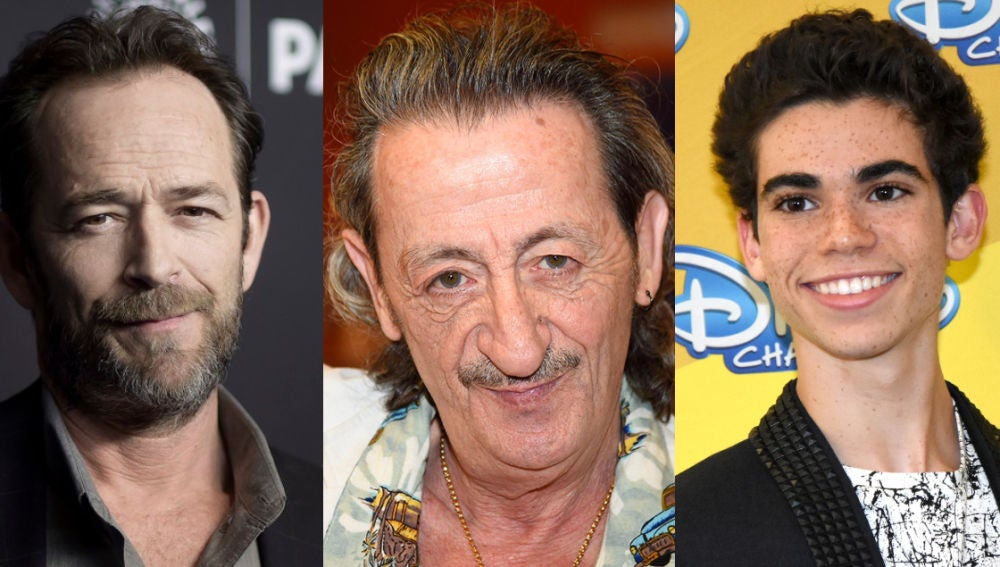 Luke Perry, Eduardo Gómez y Cameron Boyce