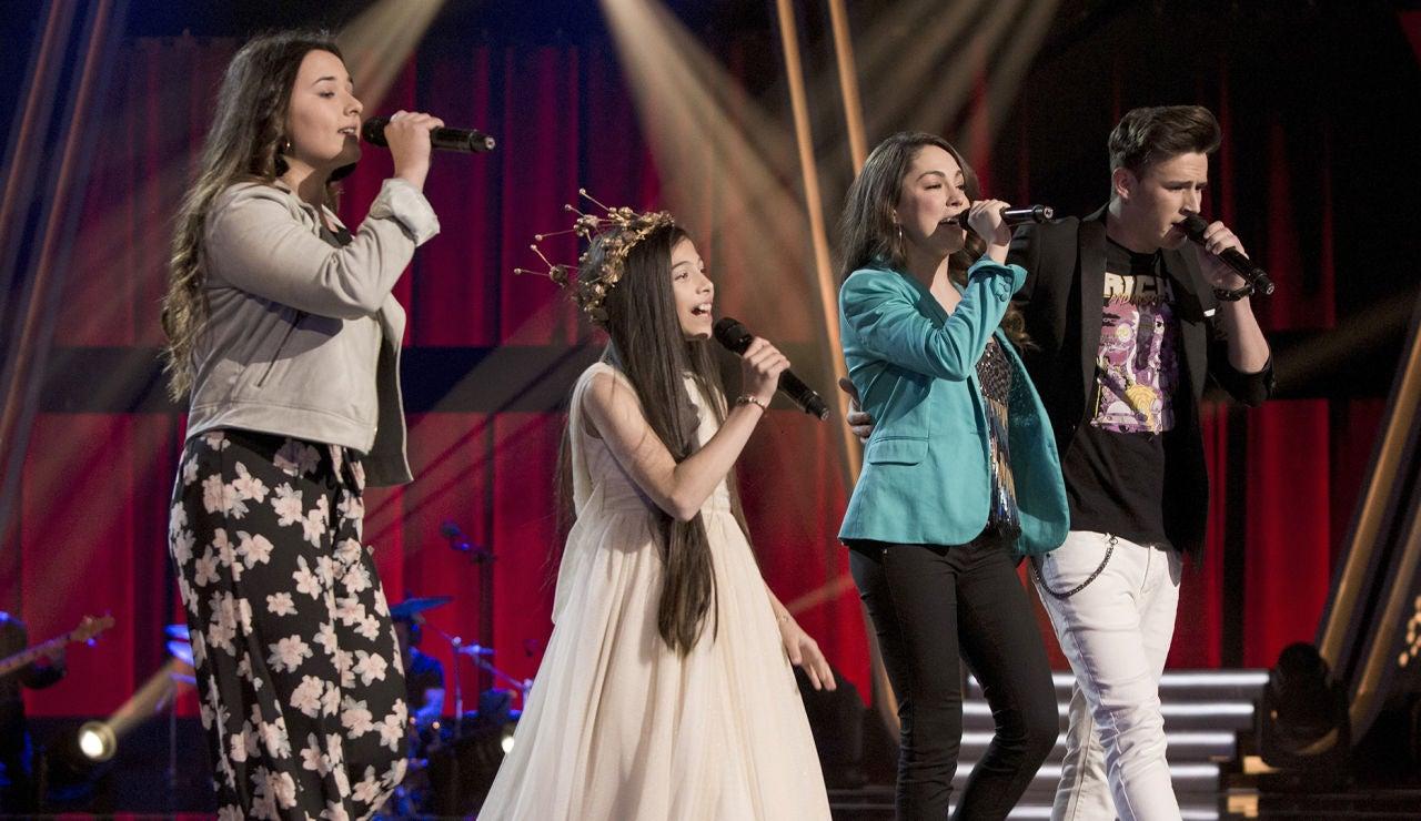 Melani, Rocío Aguilar, José María Ruiz y María Parrado impresionan con popurrí de grandes éxitos en la Gran Final 'La Voz Kids'