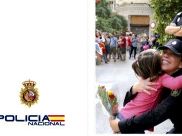 La Policía Nacional no se olvida de las protestas en Cataluña en su tradicional felicitación de Navidad