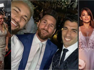 Neymar junto a Messi y Luis Suárez en Uruguay