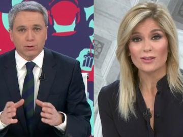 Vicente Vallés y Sandra Golpe de Antena 3 Noticias