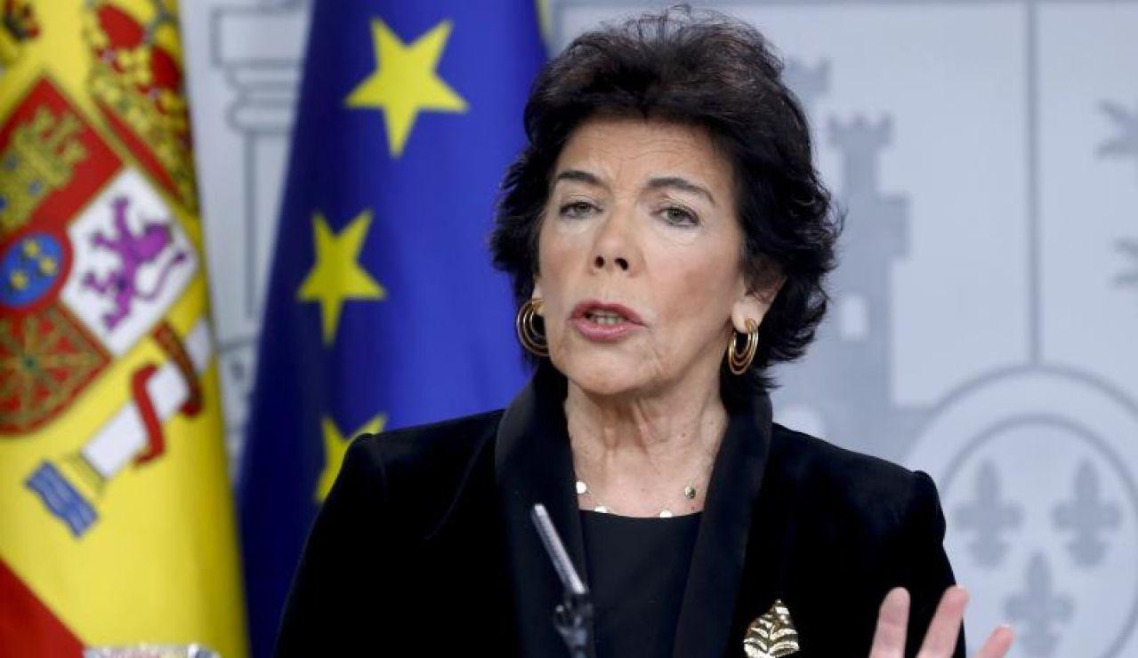 La ministra portavoz, Isabel Celaá