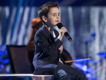 Daniel García canta 'Cómo mirarte' en la Gran Final de 'La Voz Kids'