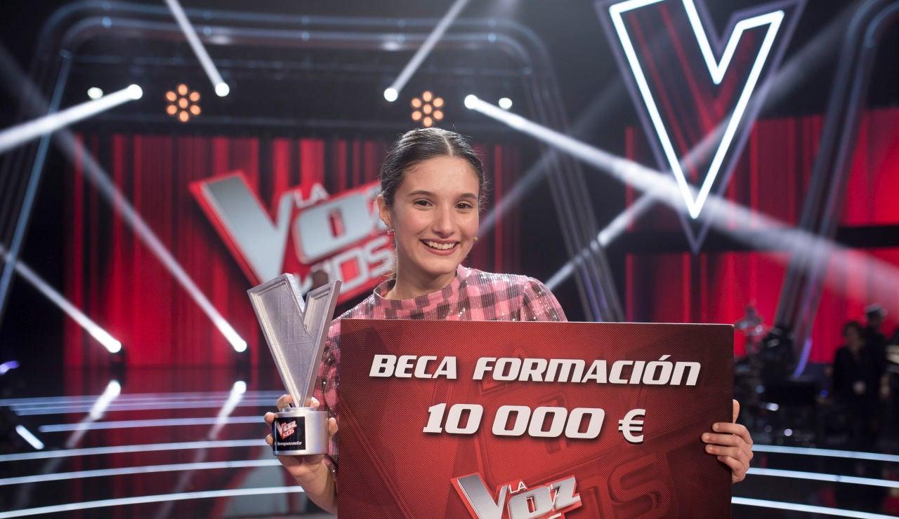 Irene Gil y David Bisbal ganan la primera edición de 'La Voz Kids' en Antena 3