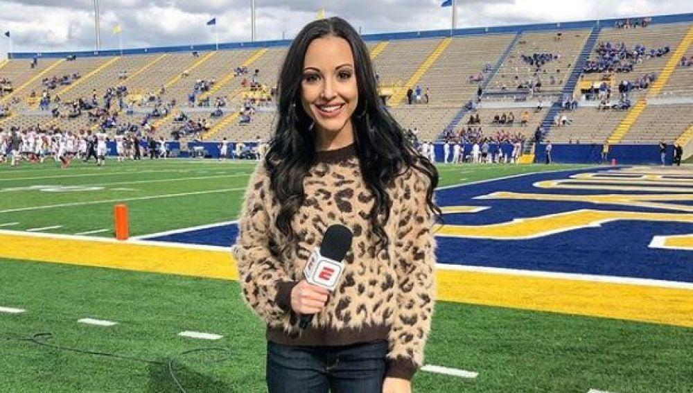 Carley McCord, en un partido de fútbol americano