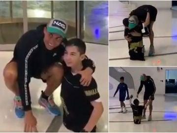Cristiano Ronaldo juega con un niño sin piernas