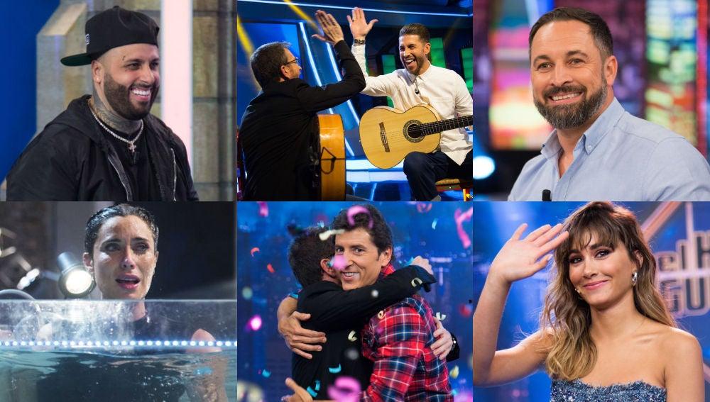 Los 12 mejores momentos de 'El Hormiguero 3.0' en 2019: de Sergio Ramos a Santiago Abascal pasando por Aitana y una pillada 'in fraganti'
