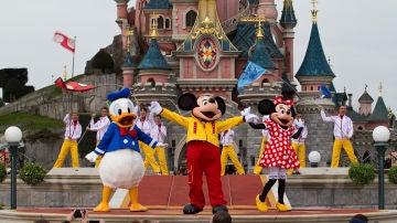 Minnie, Mickey y Donald