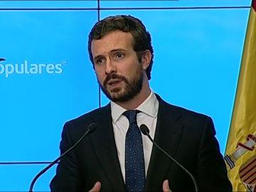 Casado pide investigar el apoyo de la Abogacía del Estado a las tesis de ERC