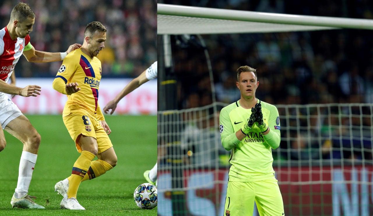 Arthur y Ter Stegen cerca de perderse la Supercopa