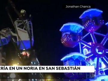 Rescate en una noria de San Sebastián