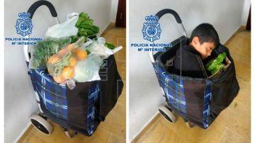 Detenida pareja por intentar introducir en Melilla a un niño en un carro de la compra