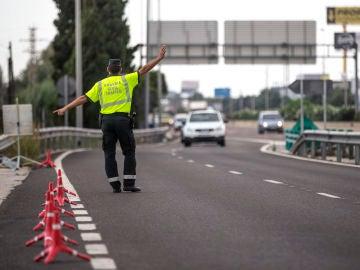 Guardia Civil en un control de Tráfico