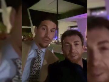 Sergio Ramos y Pablo Motos, en la última noche del año