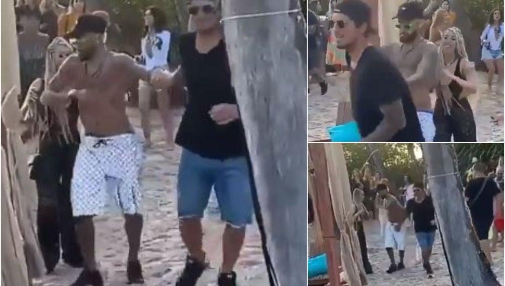 Neymar y Gabriel Medina, durante una fiesta en Brasil