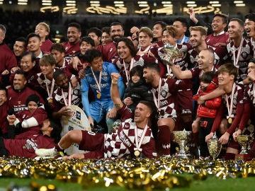 El Vissel Kobe celebra su triunfo en la Copa Del Emperador