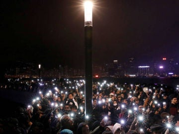 Hong Kong despide el año con nuevas protestas en las calles