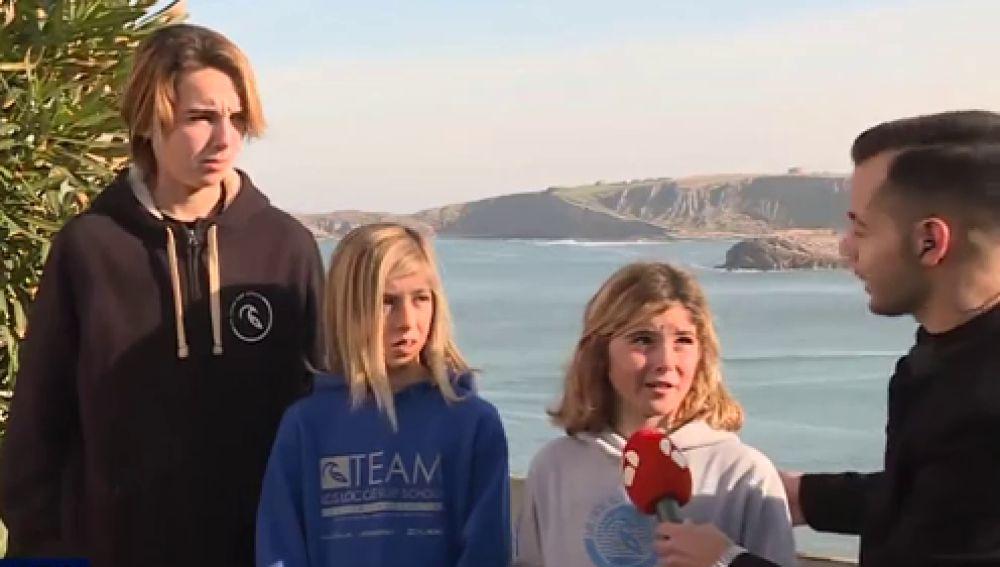 Tres niños salvan a un hombre