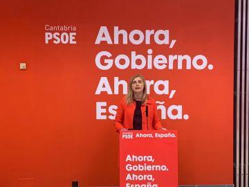 Noelia Cobo, secretaria de de Organización del PSOE de Cantabria