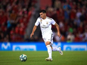 Brahim Díaz, durante un partido del Real Madrid