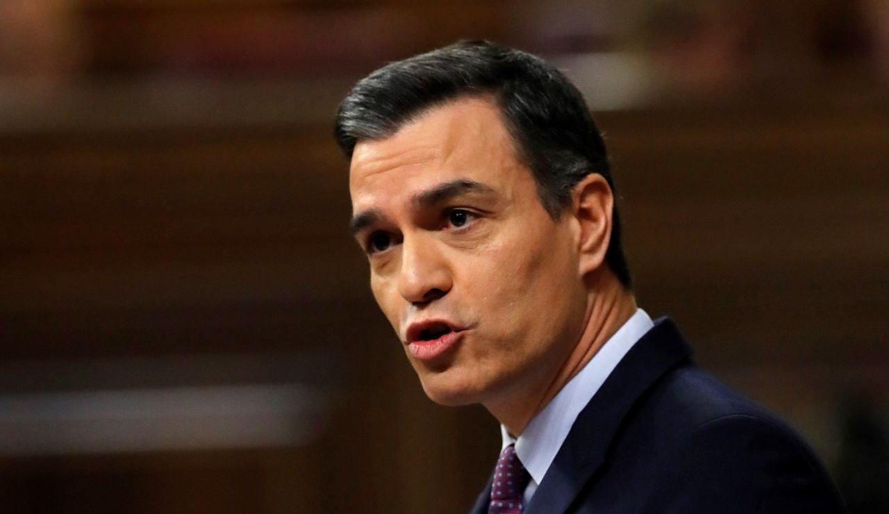 Pedro Sánchez en la sesión de Investidura