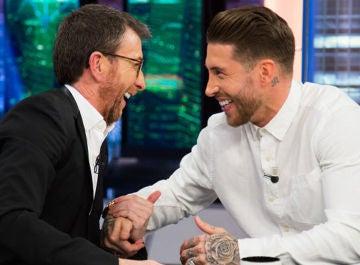 Pablo Motos y Sergio Ramos en 'El Hormiguero 3.0'