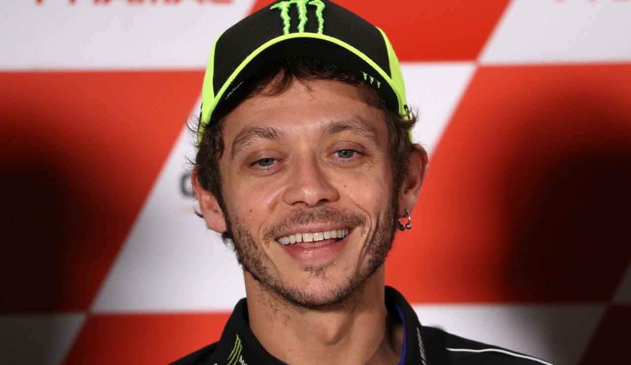 Valentino Rossi, sonriente