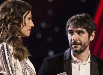 Eva González y Juanra Bonet en la final de 'La Voz Kids'