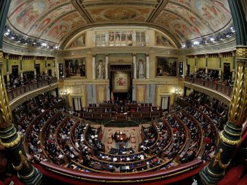 Imagen del interior del hemiciclo del Congreso