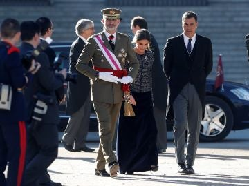 El Rey y Pedro Sánchez en la Pascua Militar en una foto de archivo